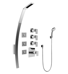 Graff GF1.130A-LM31S Luna Thermostatic Shower Set with Body Sprays and Handshower