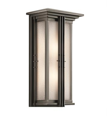 "Kichler 49160OZ Portman Square 2 Light 11"" Incandescent Outdoor Wall Sconce in Olde Bronze"