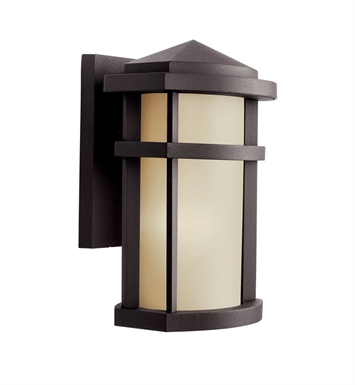 Kichler 11067AZ One Light Outdoor Wall Sconce in Architectural Bronze