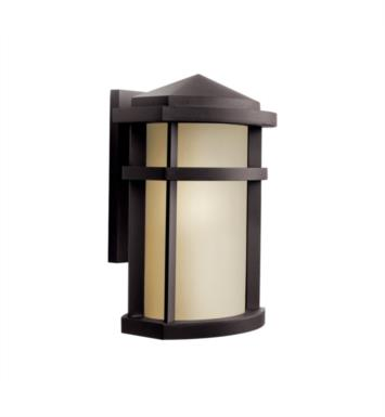 "Kichler 11068AZ Lantana 1 Light 9"" Fluorescent Outdoor Wall Sconce in Architectural Bronze"