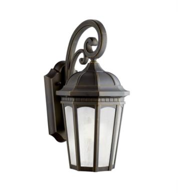 "Kichler 11011RZ Courtyard 1 Light 8 1/4"" Compact Fluorescent Outdoor Wall Sconce in Rubbed Bronze"