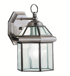 Kichler Embassy Row Collection 1 Light Outdoor Wall Sconce in Antique Pewter