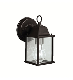 Kichler Barrie Collection 1 Light Outdoor Wall Sconce in Black (Painted)