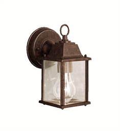 Kichler Barrie Collection 1 Light Outdoor Wall Sconce in Tannery Bronze