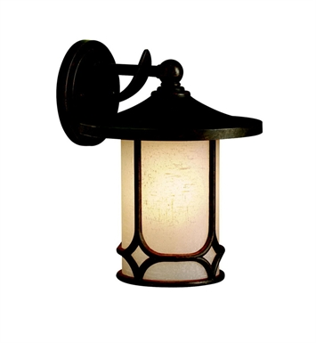 Kichler 9366AGZ Chicago Collection 1 Light Outdoor Wall Sconce in Aged Bronze