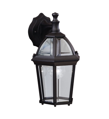 Kichler 9250BK Trenton Collection 1 Light Outdoor Wall Sconce in Black (Painted)