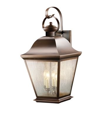 Kichler 9704OZ Mount Vernon Collection 4 Light Outdoor Wall Sconce in Olde Bronze
