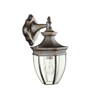 Kichler Warrington Collection 1 Light Outdoor Wall Sconce in Tannery Bronze