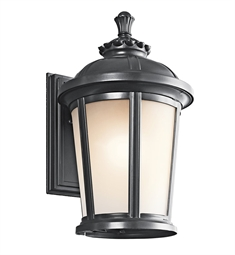 Kichler Ralston Collection 1 Light Outdoor Wall Sconce in Black (Painted)