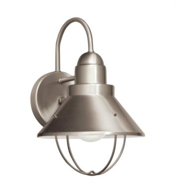 "Kichler 11098NI Seaside 1 Light 8"" Compact Fluorescent Outdoor Wall Sconce in Brushed Nickel"