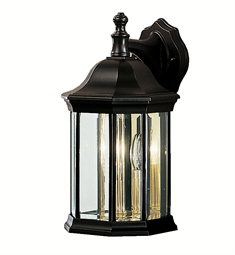Kichler 9777BK Chesapeake Collection 3 Light Outdoor Wall Sconce in Black (Painted)