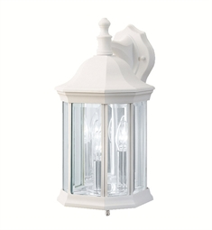 Kichler 9777WH Chesapeake Collection 3 Light Outdoor Wall Sconce in White