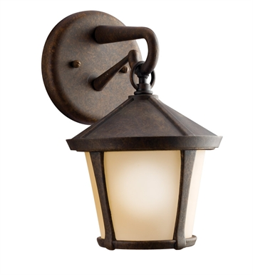 Kichler 9051AGZ One Light Outdoor Wall Sconce in Aged Bronze