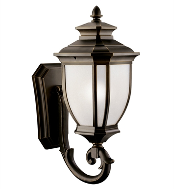 Kichler 11005RZ Salisbury Collection 1 Light Outdoor Wall Sconce in Rubbed Bronze