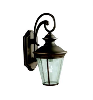 "Kichler 9347OZ Eau Claire 1 Light 9"" Incandescent Outdoor Wall Sconce in Olde Bronze"