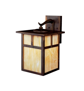 Kichler 10960CV Alameda Collection 1 Light Outdoor Wall Sconce in Brown