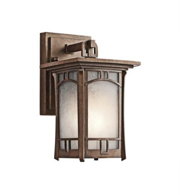 "Kichler 49449AGZ Soria 1 Light 6"" Incandescent Outdoor Wall Sconce in Aged Bronze"