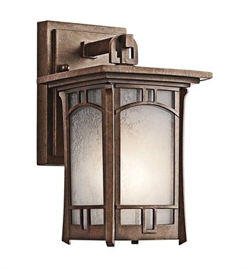 Kichler 49449AGZ Soria Collection 1 Light Outdoor Wall Sconce in Aged Bronze