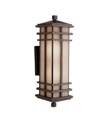 Kichler Two Light Outdoor Wall Sconce in Aged Bronze