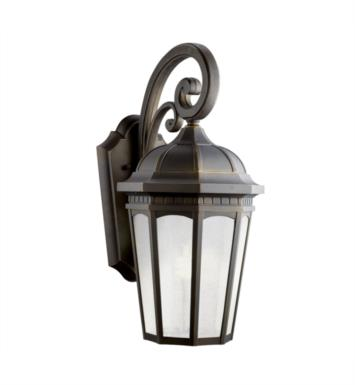 "Kichler 11012RZ Courtyard 1 Light 10 1/4"" Compact Fluorescent Outdoor Wall Sconce in Rubbed Bronze"