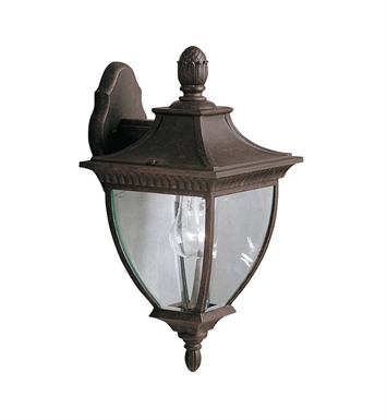 Kichler Amesbury Collection 1 Light Outdoor Wall Sconce in Tannery Bronze with Gold Accent