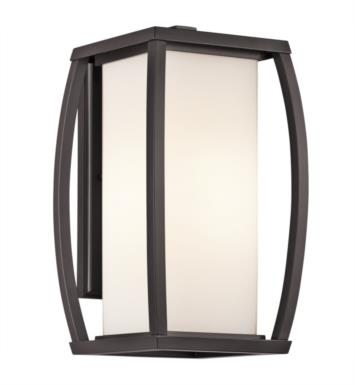 "Kichler 49338AZ Bowen 1 Light 9"" Incandescent Outdoor Wall Sconce in Architectural Bronze"