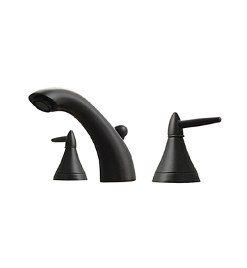 Whitehaus 614.111WS Blairhaus Jackson Widespread Lavatory Faucet with Smooth Escutcheons and Pop-up Waste