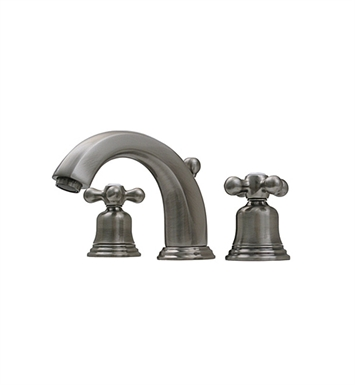 Whitehaus 514.161WS Blairhaus McKinley Widespread Lavatory Faucet with Beveled Escutcheons and Pop-up Waste