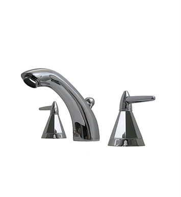 Whitehaus 614.151WS Blairhaus Monroe Widespread Lavatory Faucet with Smooth Arcing Spout, Octagone-shaped Lever Handles, Smooth Escutcheons and Pop-up Waste