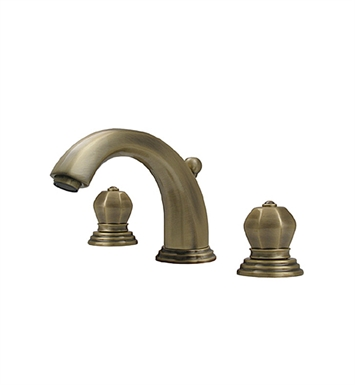 Whitehaus 514.121WS Blairhaus Washington Widespread Lavatory Faucet with Beveled Escutcheons and Pop-up Waste