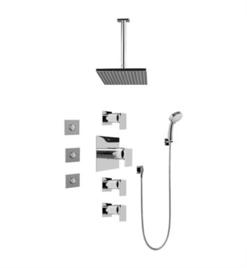 Graff GC1.131A-LM31S Solar/Structure Contemporary Square Thermostatic Set with Body Sprays and Handshower