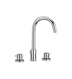 Whitehaus Luxe WHLX78214 Widespread Lavatory Faucet with Tall Gooseneck Swivel Spout and Pop-up Waste