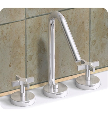 Whitehaus WH832148-BN Metrohaus Widespread Lavatory Faucet with Swivel Spout, Cross Handles and Pop-up Waste With Finish: Brushed Nickel