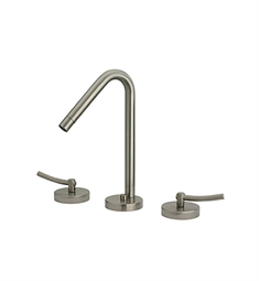 Whitehaus Metrohaus WH81214 Widespread Lavatory Faucet with Swivel Spout, Lever Handles and Pop-up Waste