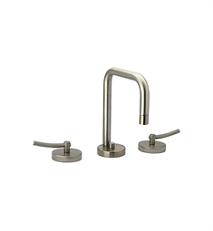 Whitehaus Metrohaus WH81214L Widespread Lavatory Faucet with Swivel Spout, Lever Handles and Pop-up Waste