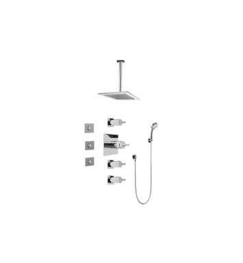 Graff GC1.131A-C14S-SN Contemporary Square Thermostatic Set with Body Sprays and Handshower With Finish: Steelnox (Satin Nickel) And Rough / Valve: Rough