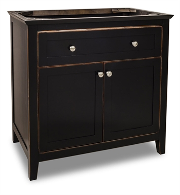 Hardware Resources VAN093-36 Traditional Bathroom Vanity by Jeffrey Alexander