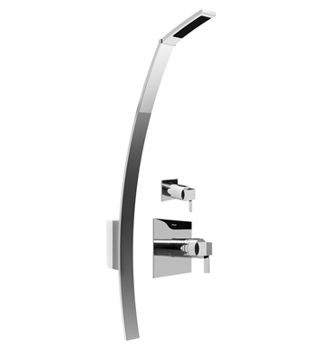 Graff GF4.000A-LM39S-PC Luna Thermostatic Shower Set With Finish: Polished Chrome