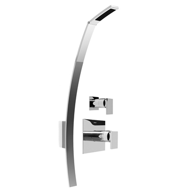 Graff GF4.000A-LM31S-PC Luna Thermostatic Shower Set With Finish: Polished Chrome