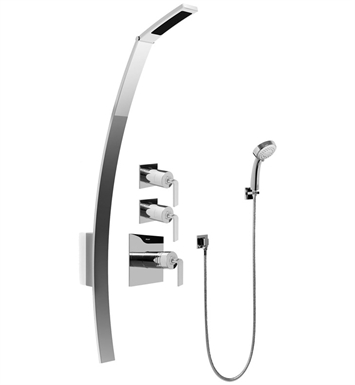 Graff GF2.030A-LM40S-SN Luna Thermostatic Shower Set with Handshower With Finish: Steelnox (Satin Nickel)
