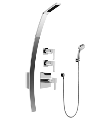 Graff GF2.030A-LM38S-SN Luna Thermostatic Shower Set with Handshower With Finish: Steelnox (Satin Nickel)