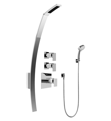 Graff GF2.030A-LM31S-PC Luna Thermostatic Shower Set with Handshower With Finish: Polished Chrome