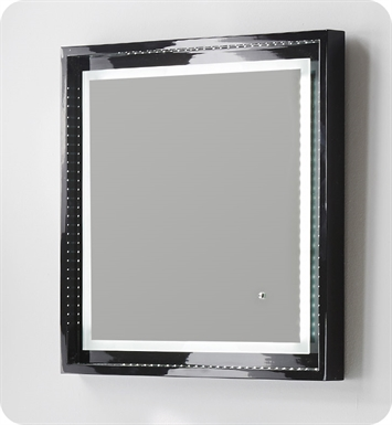 mirror for bathrooms fresca platinum fpmr7624bl wave 24 quot black gloss 13665