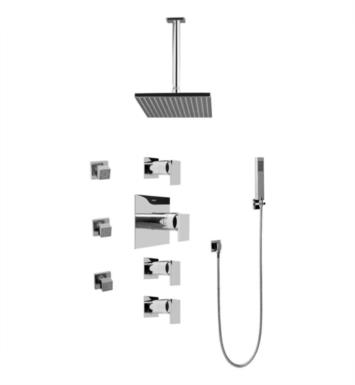 Graff GC1.221A-LM31S-PC Solar/Structure Contemporary Square Thermostatic Set with Body Sprays and Handshower With Finish: Polished Chrome And Rough / Valve: Trim + Rough