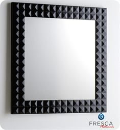 "Fresca Platinum Diamond 31"" Black Gloss Mirror w/ Fog-Free System"