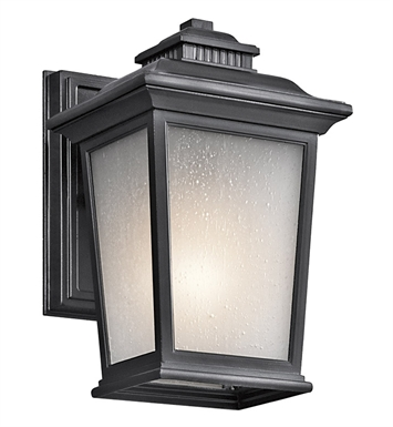 Kichler 49438BK Weatherly Collection 1 Light Outdoor Wall Sconce in Black (Painted)