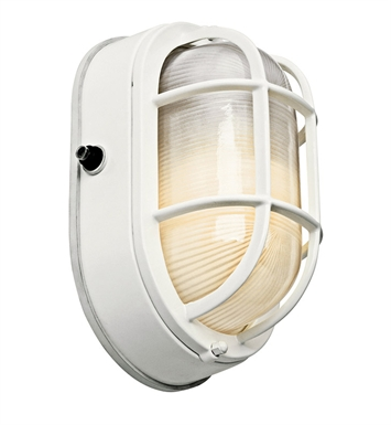 Kichler 11029WH One Light Outdoor Wall Sconce in White