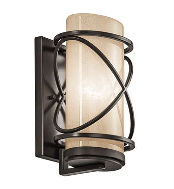 Kichler 49357AZ One Light Outdoor Wall Sconce in Architectural Bronze
