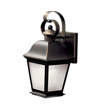 Kichler 10907OZ Mount Vernon Collection 1 Light Outdoor Wall Sconce in Olde Bronze