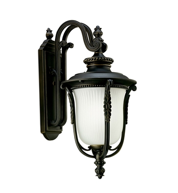 Kichler 11032RZ One Light Outdoor Wall Sconce in Rubbed Bronze